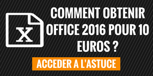 Comment obtenir Office 2016 pour 10 € ?