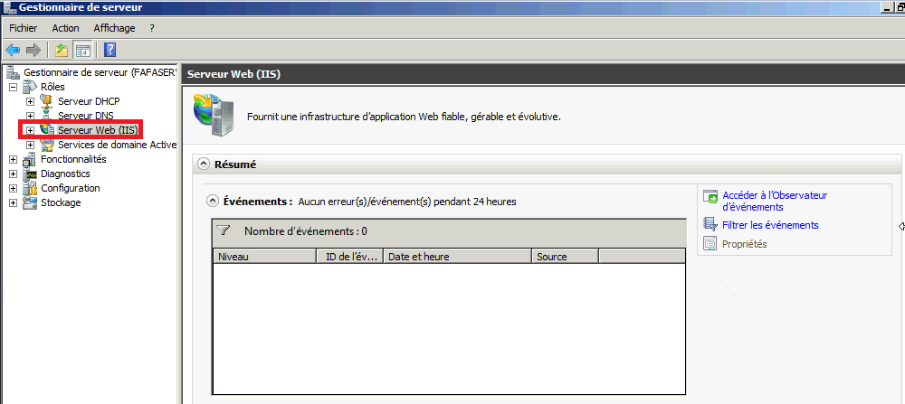 Installer un serveur Web IIS