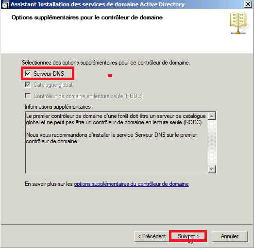 Installer Active Directory dans Windows Server 2008
