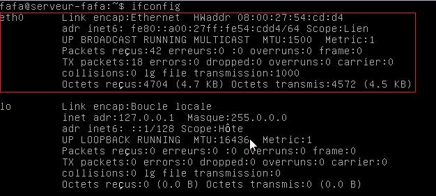 Configurer une carte réseau sous Linux