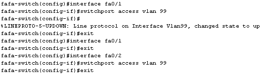 Configuration commutateur