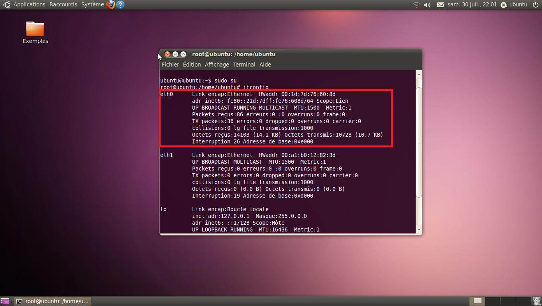 Configurer la connexion internet sur Ubuntu