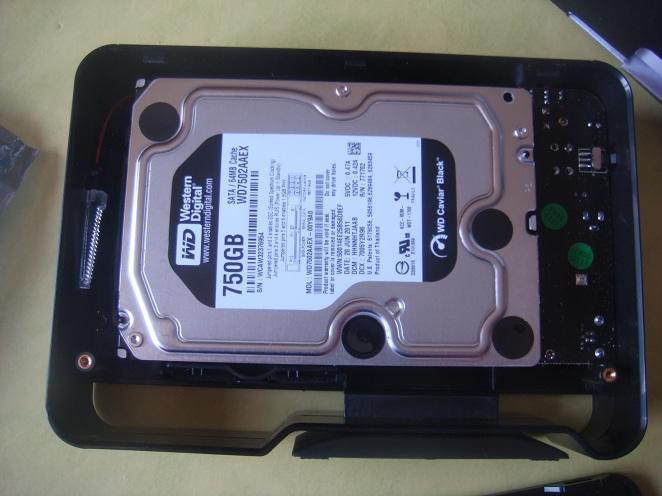 Insérer disque dur dans boitier externe