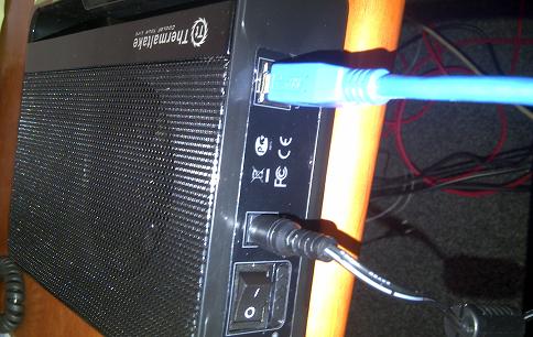 Connecter le disque dur externe