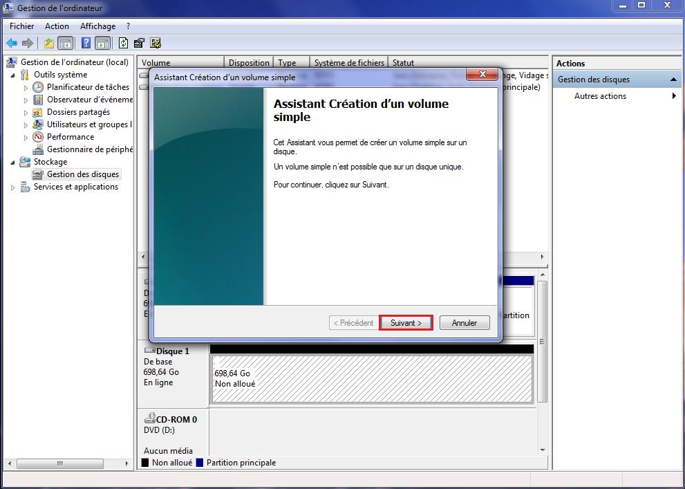 Assistant disque dur externe