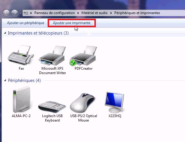 Installer une imprimante réseau