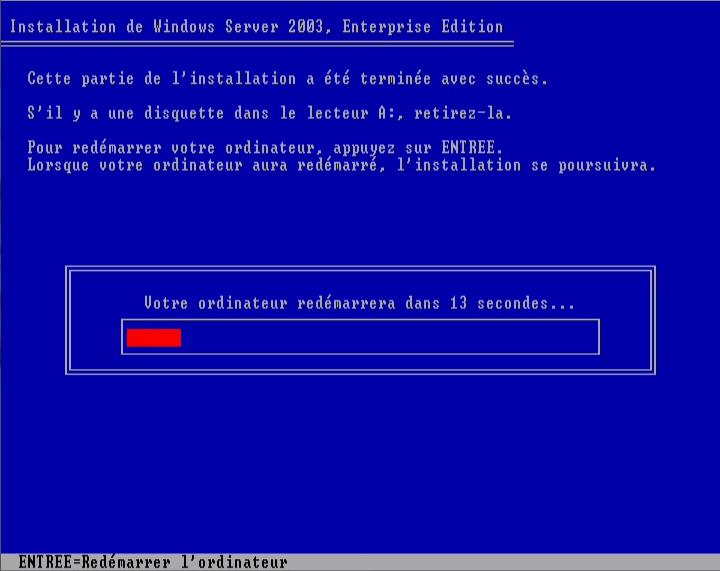 installation du serveur Windows 2003