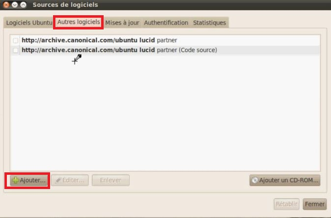 Ajouter une source Linux