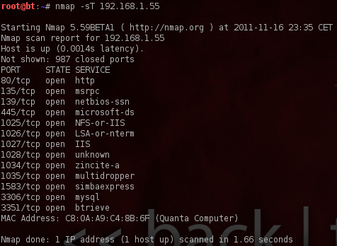 Scan de ports TCP avec Nmap