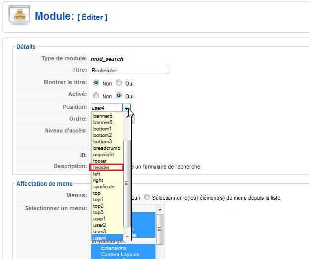 Nouvelle position module Joomla!