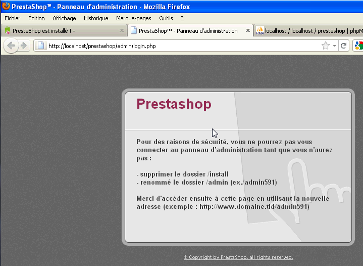 Installer Prestashop