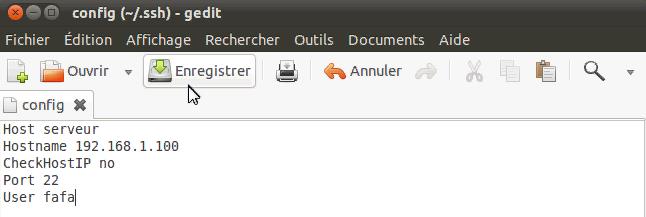 Créer un profil de connexion pour SSH