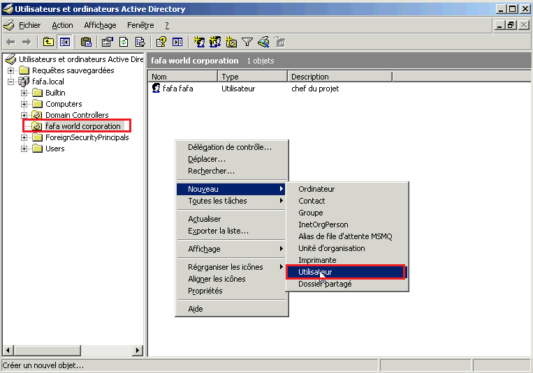 Profils itinérants Active Directory