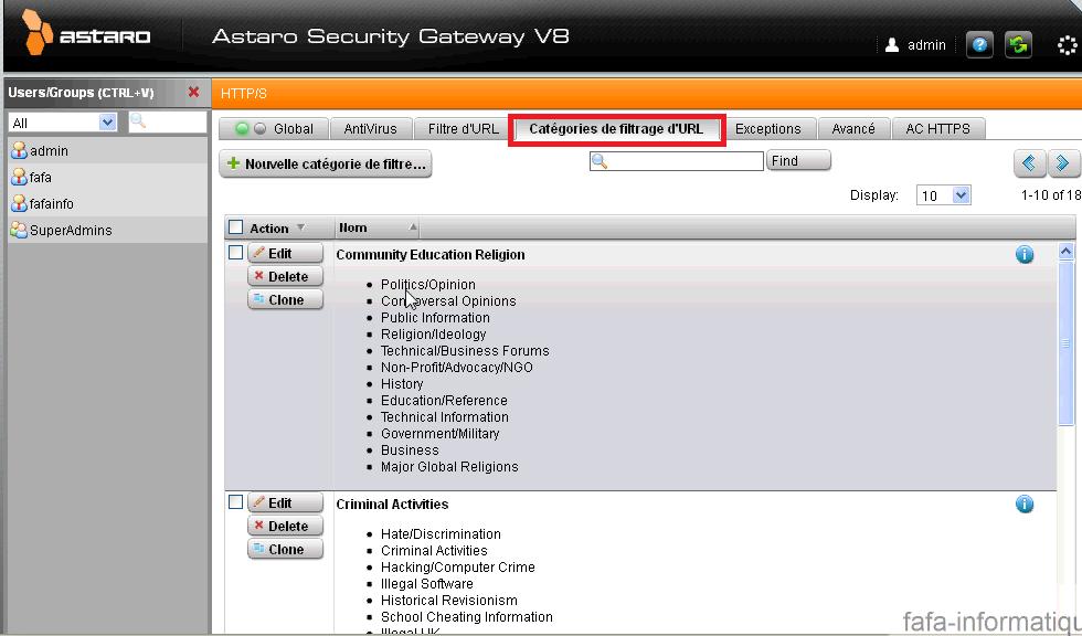 Mettre en place un proxy http sur astaro for Ouvrir une nouvelle fenetre