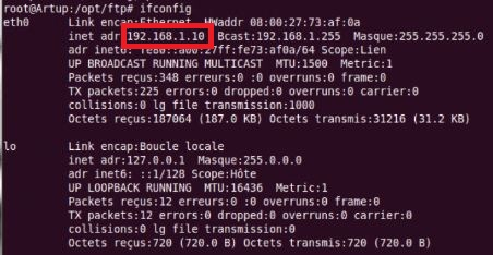 Vérification adresse IP