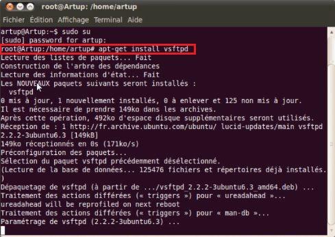 Installation serveur FTP