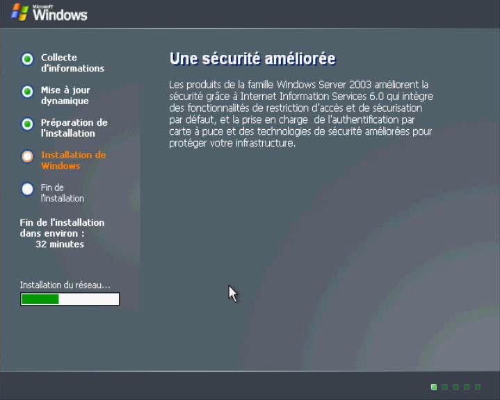 Installer Windows 2003