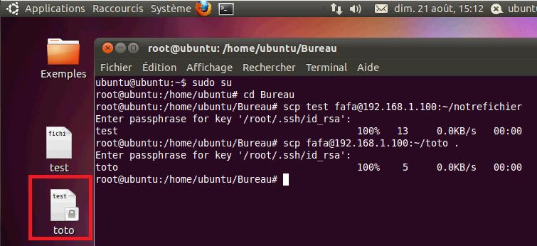 Copier fichier en SSH