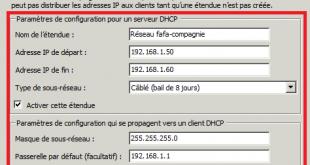 Installer DHCP dans Windows 2008
