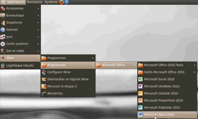Microsoft Office dans Linux