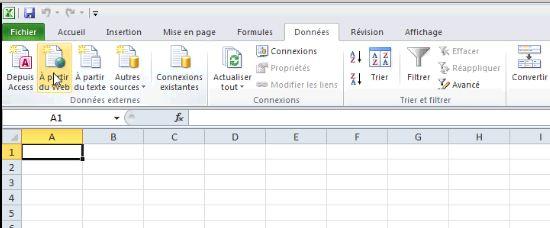 Importer des données dans Excel