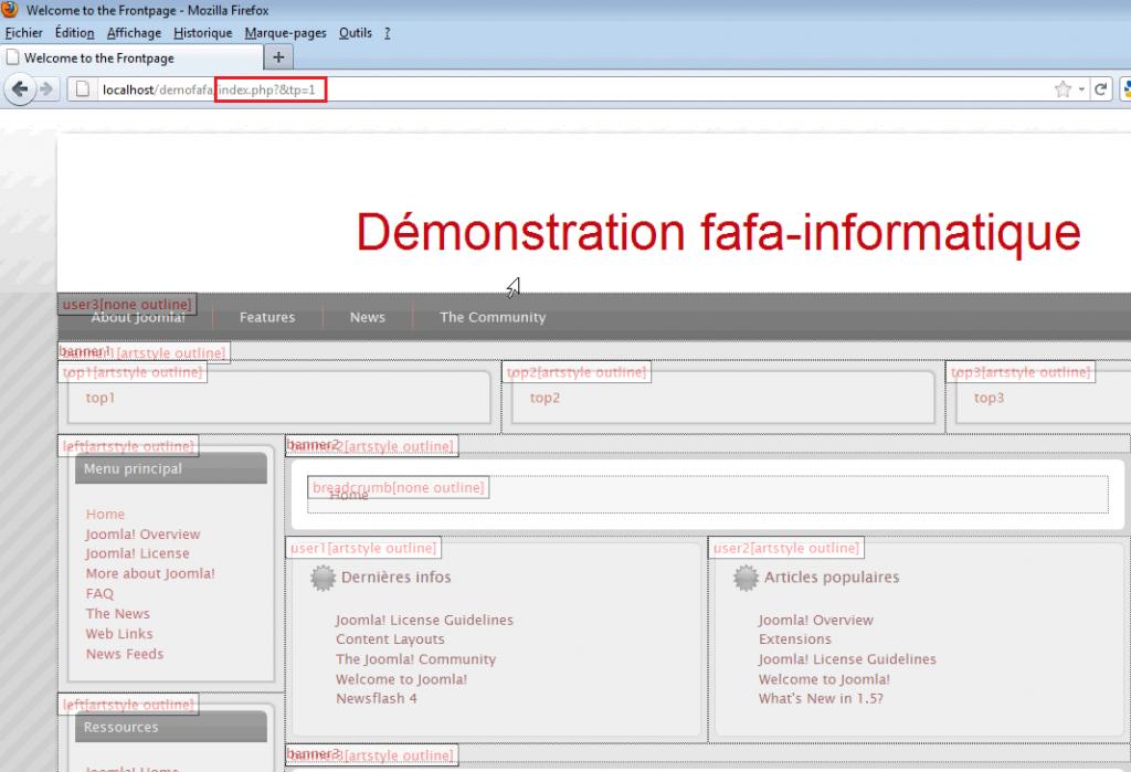 Afficher la position des modules dans template Joomla!