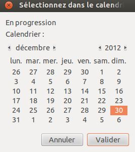 Option calendar Zenity