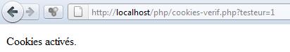 Script PHP détection cookie