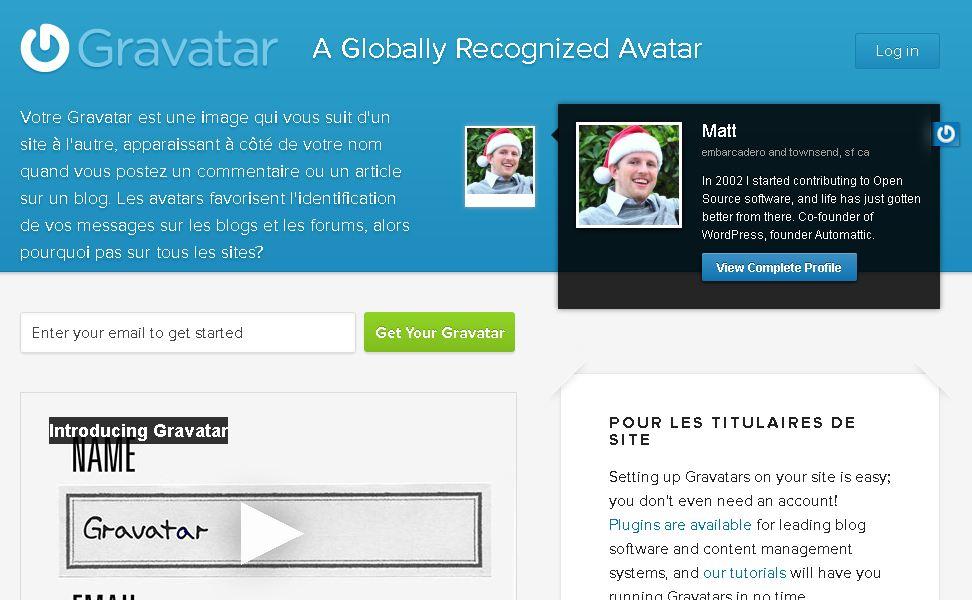Utiliser un avatar grâce à Gravatar