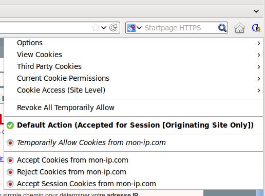 Anonyme en bloquant les cookies