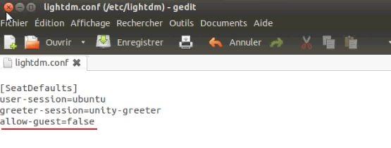 Supprimer invité dans LightDM