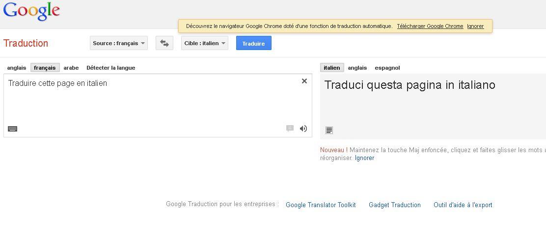 bourse google traduction