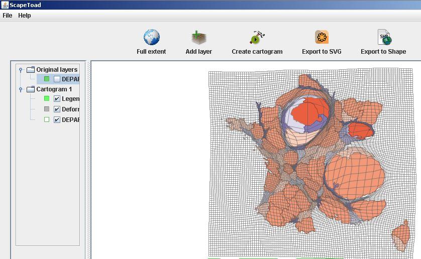 Exporter le cartogramme en SVG