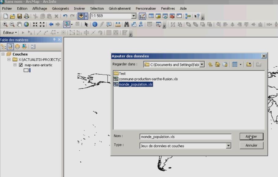 Ajouter un fichier Excel