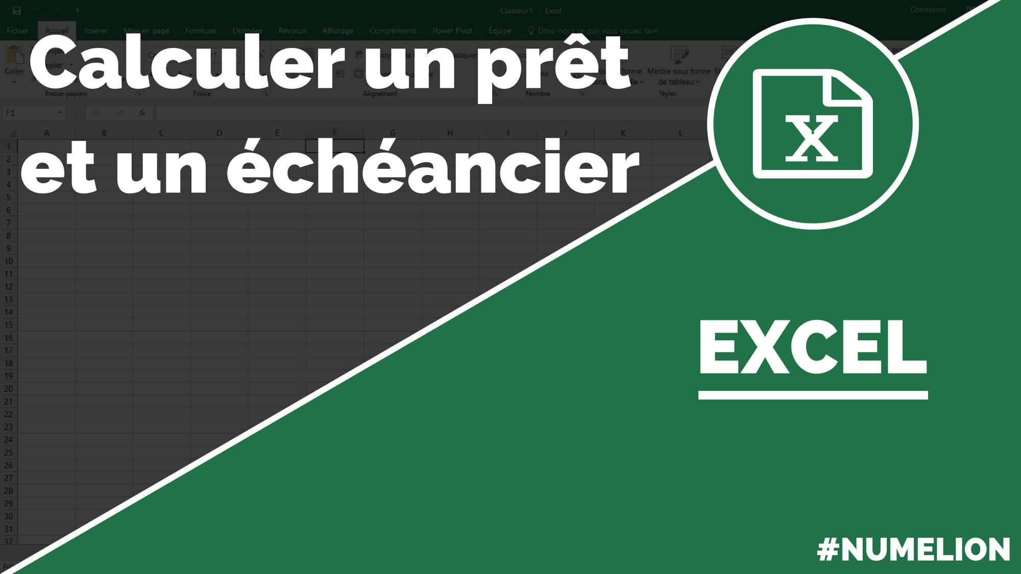 Calcul D Un Pret Et D Un Echeancier Avec Excel Tutoriel