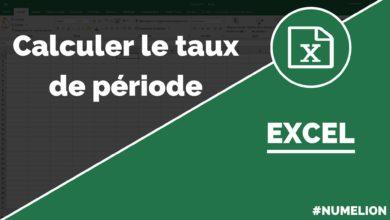 Calculer le taux de période dans Excel