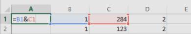 Formule pour regrouper une cellule Excel