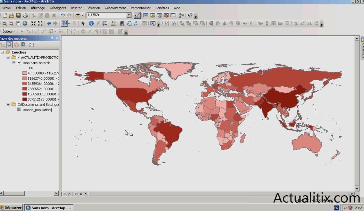Jointure de données Excel et Arcmap