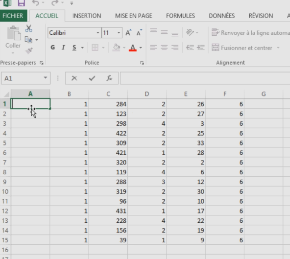 Regrouper des cellules Excel
