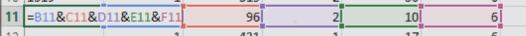 Regrouper plusieurs cellules dans Excel