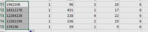 Résultat du regroupage plusieurs cellules Excel
