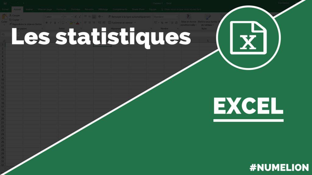 Les statistiques dans Excel