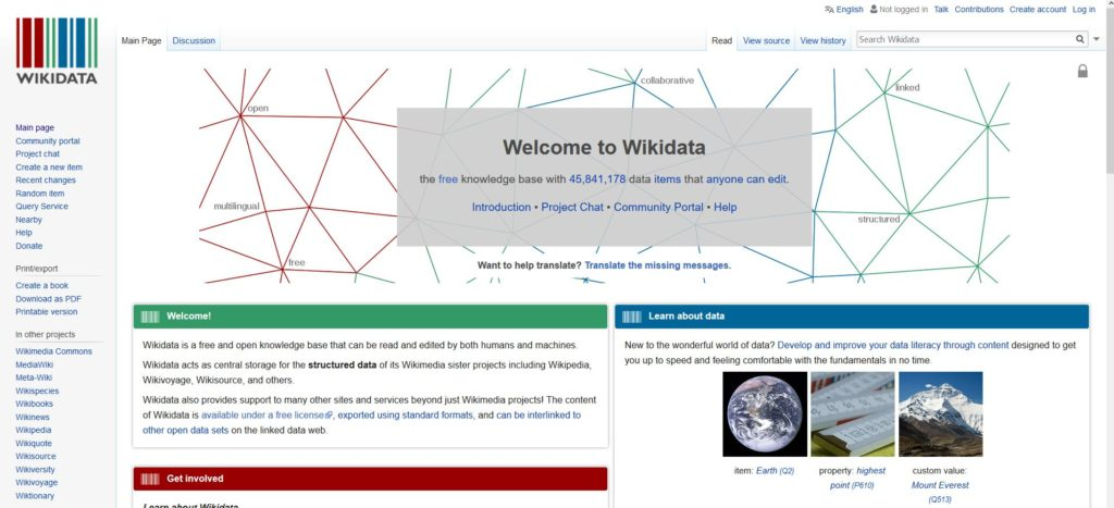 Wikidata pour extraire des données de WIkipedia