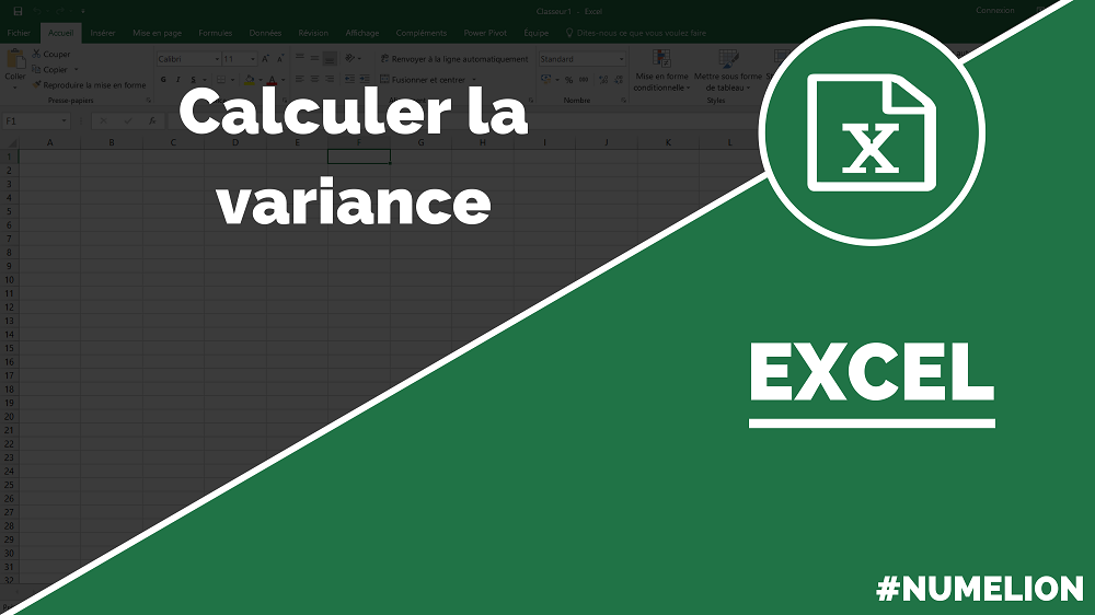 how to get variance on excel