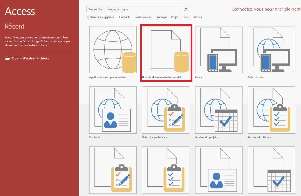 Comment créer une base de données Access ?