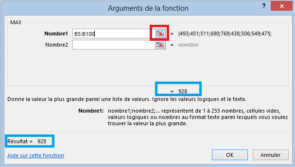 Fonction Maximum Excel