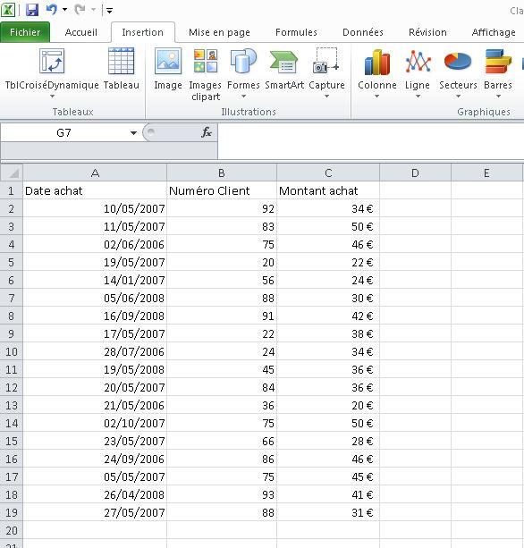 Attribuer un nom aux plages Excel