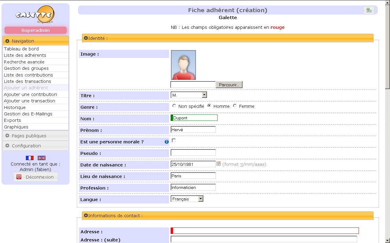 galette   logiciel de gestion d u0026 39 associations gratuit
