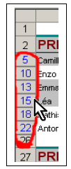 Masquer données Excel