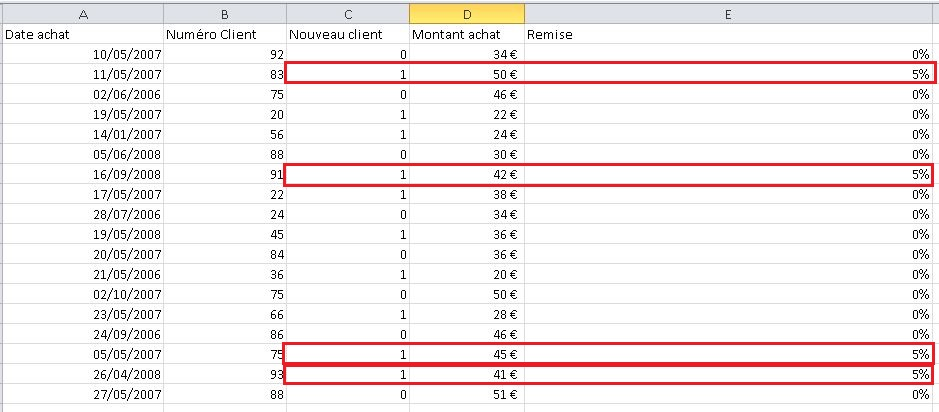 Modification Excel formule SI
